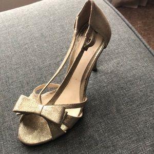 Gold Fendi shoe